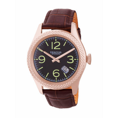Heritor Automatic Barnes Leather-Band Watch w/Date - HERHR7107