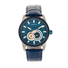 Load image into Gallery viewer, Heritor Automatic Davidson Semi-Skeleton Leather-Band Watch - Blue - HERHR8004