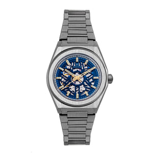 Heritor Automatic Atlas Bracelet Watch - Blue & White - HERHS1301