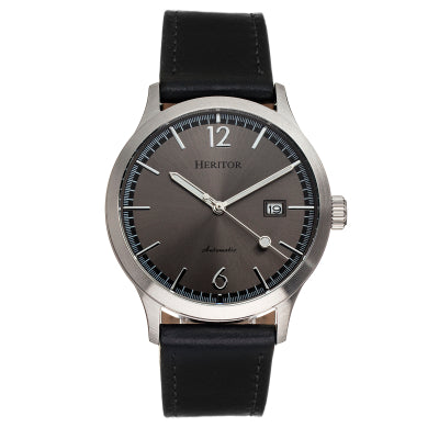 Heritor Automatic Becker Leather-Band Watch w/Date - HERHR9604