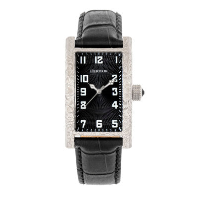 Heritor Automatic Jefferson Leather-Band Watch - HERHR8801