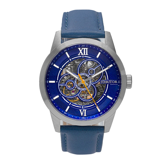Heritor Automatic Jonas Leather-Band Skeleton Watch - HERHR9503