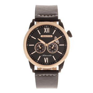 Heritor Automatic Wellington Leather-Band Watch