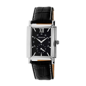 Heritor Automatic Frederick Leather-Band Watch - Silver/Black - HERHR6102