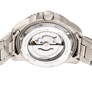 Heritor Automatic Lucius Bracelet Watch w/Date - Silver/White - HERHR7801