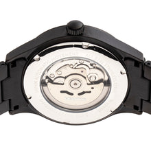 Load image into Gallery viewer, Heritor Automatic Antoine Semi-Skeleton Bracelet Watch - Black - HERHR8504