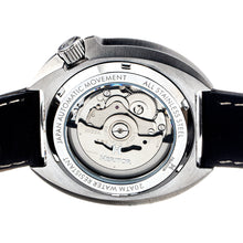 Load image into Gallery viewer, Heritor Automatic Pierce Leather-Band Watch w/Date - White/Black - HERHS1201