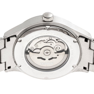 Heritor Automatic Antoine Semi-Skeleton Bracelet Watch - Silver/Blue - HERHR8503