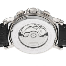 Load image into Gallery viewer, Heritor Automatic Kingsley Leather-Band Watch w/Day/Date - Silver/Black - HERHR4808