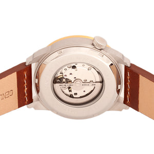 Heritor Automatic Wellington Leather-Band Watch - Brown/Gold/White - HERHR8204