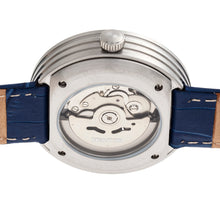 Load image into Gallery viewer, Heritor Automatic Jasper Skeleton Leather-Band Watch - Silver/Blue - HERHR8705