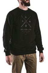 Black mens pullover fleece top