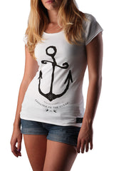 Dead Reckoning, Ladies Tee, Cotton, Anchor, Sparrow, Ocean, South African, Clothing, Brand