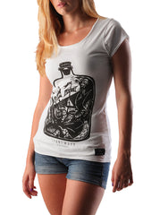 Dead Reckoning, Ladies Tee, Cotton, Bottle, Shipwreck, Ocean, South African, Clothing, Brand
