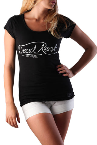 Dead Reckoning, Ladies Tee, Cotton, Tradmark, Handdrawn, Ocean, South African, Clothing, Brand, Cross Bones Front