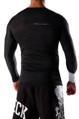 Dead Reckoning, RashGuard, Rashie, Four Way Stretch, BJJ, Surfing, Fitness, Black and White
