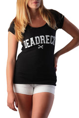 Dead Reckoning, Ladies Tee, Cotton, Tradmark, Logo, Ocean, South African, Clothing, Brand, Cross Bones Front