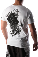 Dead Reckoning, T-shirt, Tee, South Africa, Brand, White Cotton, MMA, Surfing, Back