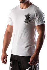 Dead Reckoning, T-shirt, Tee, South Africa, Brand, White Cotton, MMA, Surfing, Front