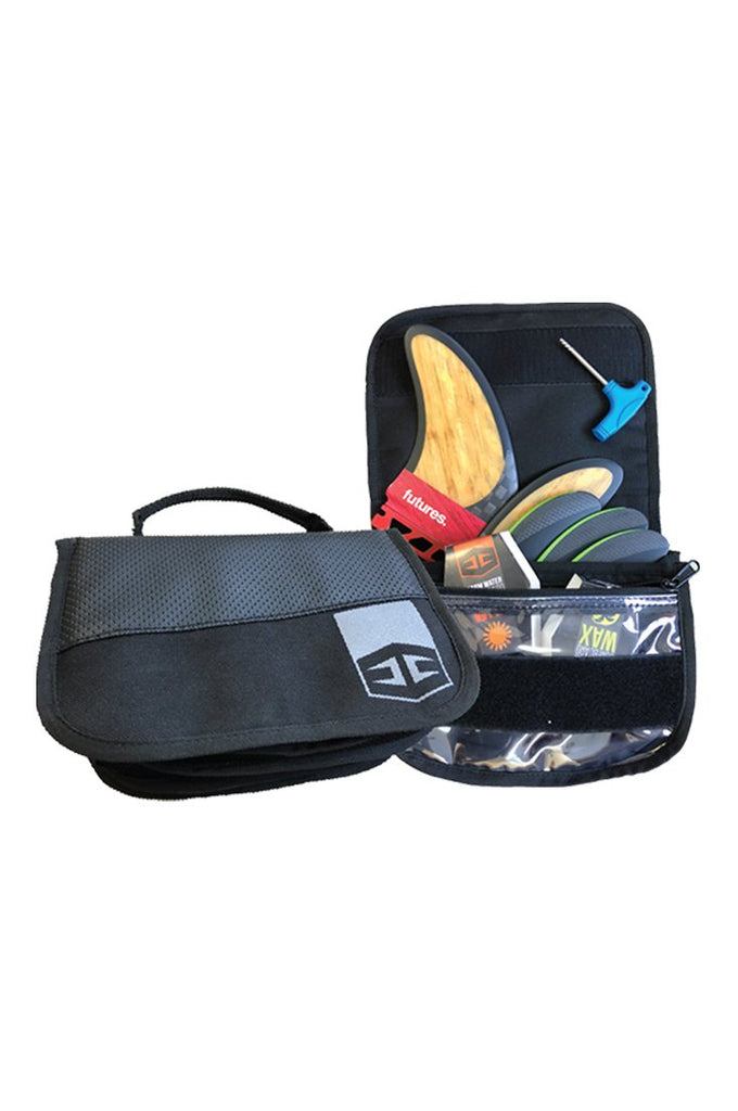 Surfboard Fin Pouch and bag with wax compartment by Hurricane Surf Accessories Dead Reckoning South Africa
