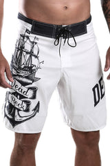 White Boardshorts Nautical Theme Dead Reckoning