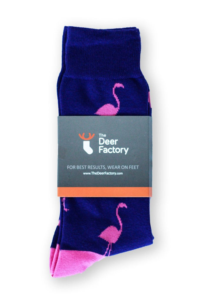 Flamingo Socks by The Deer Factory Funky Socks