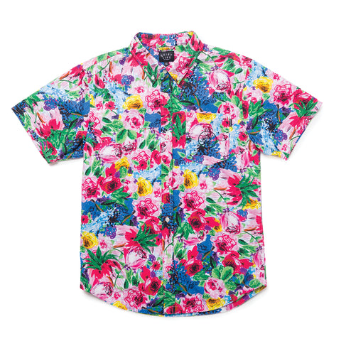 Take A Break Floral Button Down