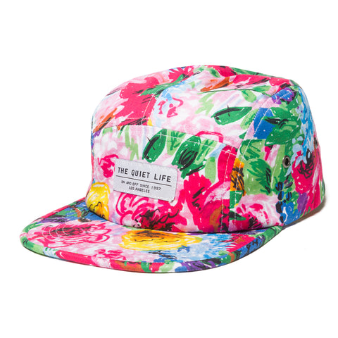 Take A Break Floral 5 Panel Camper Hat