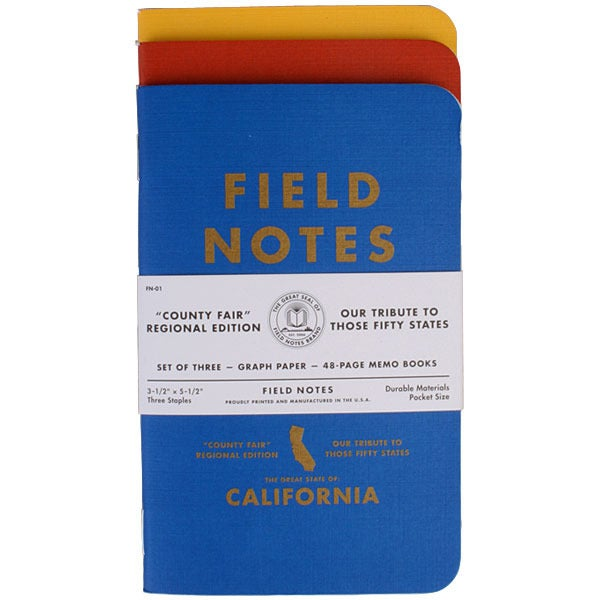 FIELD NOTES - COUNTY FAIR 3 PACK - CALIFORNIA