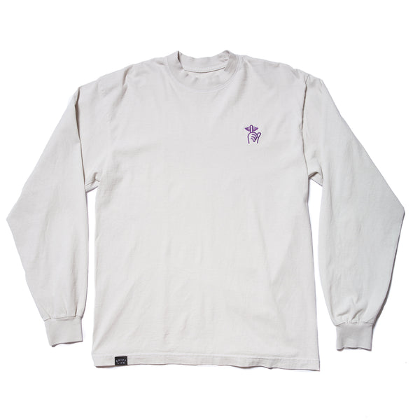 Shhh Embroidery Long Sleeve T - Made in USA
