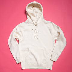 Love Embroidered Hood - Special Release - Bone