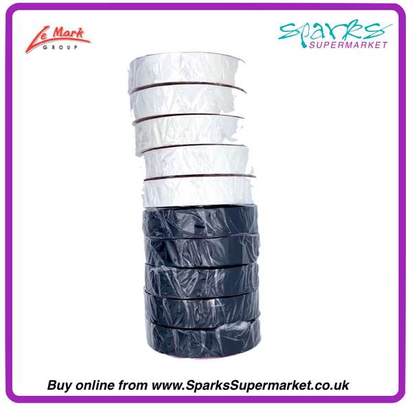 MULTI-PACK PVC ELECTRICAL TAPE BLACK / WHITE