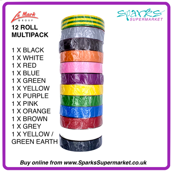 LE MARK ELECTRICAL TAPE MULTIPACK