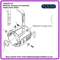 SPARE PARTS - SOURCE 4 FOUR PROFILE REFLECTOR HOUSING ASSEMBLY
