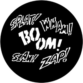 ROSCO STEEL GOBO 71049	Splat Zap