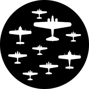 ROSCO STEEL GOBO 76561 WORLD WAR PLANES 1