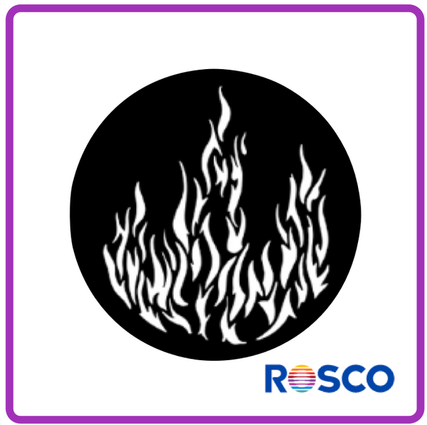 ROSCO STEEL GOBO 77175       	Flames 1
