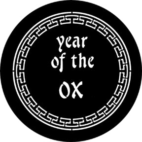 ROSCO STEEL GOBO 77652E Year Of The Ox