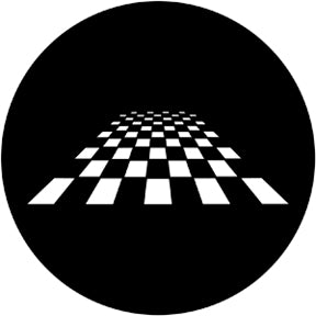 ROSCO STEEL GOBO 78053 PERSPECTIVE CHESS BOARD