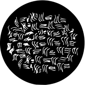 ROSCO STEEL GOBO 78233	Squiggle Scratch
