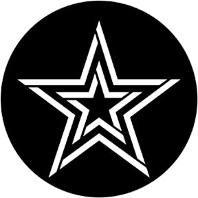 ROSCO STEEL GOBO 78803	Striped Star
