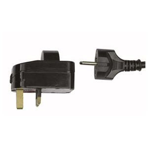 Europe ( Schuko ) to UK 13A Adapter