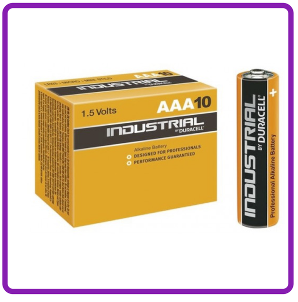 DURACELL  INDUSTRIAL AAA BATTERY 10 PACK