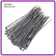 CABLE TIES 100 PACK - 2.5mm X 100mm