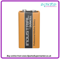 DURACELL INDUSTRIAL 9V BATTERY SINGLE