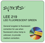 LEE 219 LEE FLUORESCENT GREEN