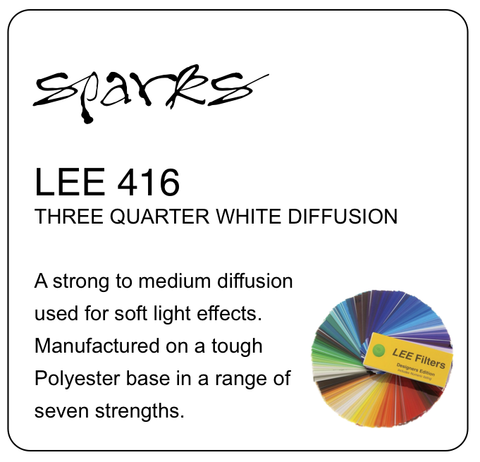 LEE 416 THREE QUARTER WHITE DIFFUSION