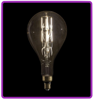 LED Filament Bulb PS52 6W, dimmable - extra large
