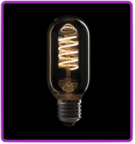 LED Filament Bulb T45 E27 5W, Dimmable, Gold glass cover