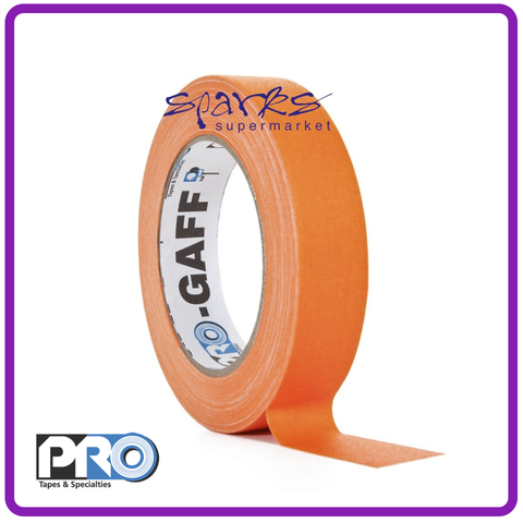 PRO GAFF FLUORESCENT GAFFA TAPE HI VIS ORANGE